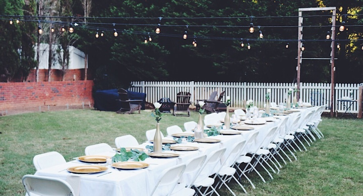 Throwing a backyard dinner bash