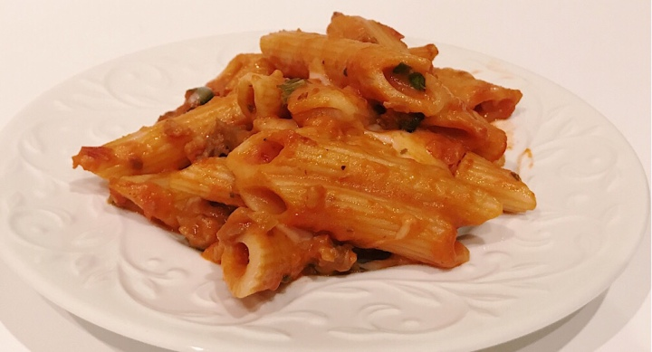 Recipe: Pink pasta with Italian sausage